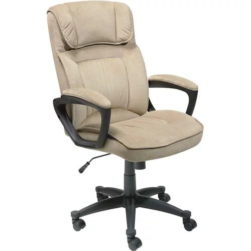 office chair quality desk outlet serta executive microfiber light beige walmart com