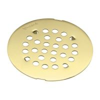 "Moen 101663 4-1/4"" Round Shower Drain Cover with Snap-In ..."
