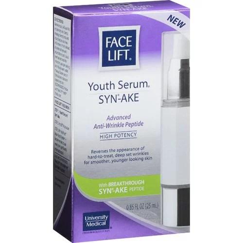 face lift youth serum synake 085ounce Walmartcom