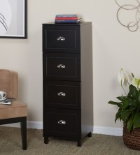 Bradley 4 Drawer Vertical Wood Filing Cabinet, Black ...