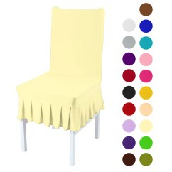 Dining Room Chair Covers Walmart.ca Training Chairs Singapore Stretchy Spandex Ruffled Skirt Short