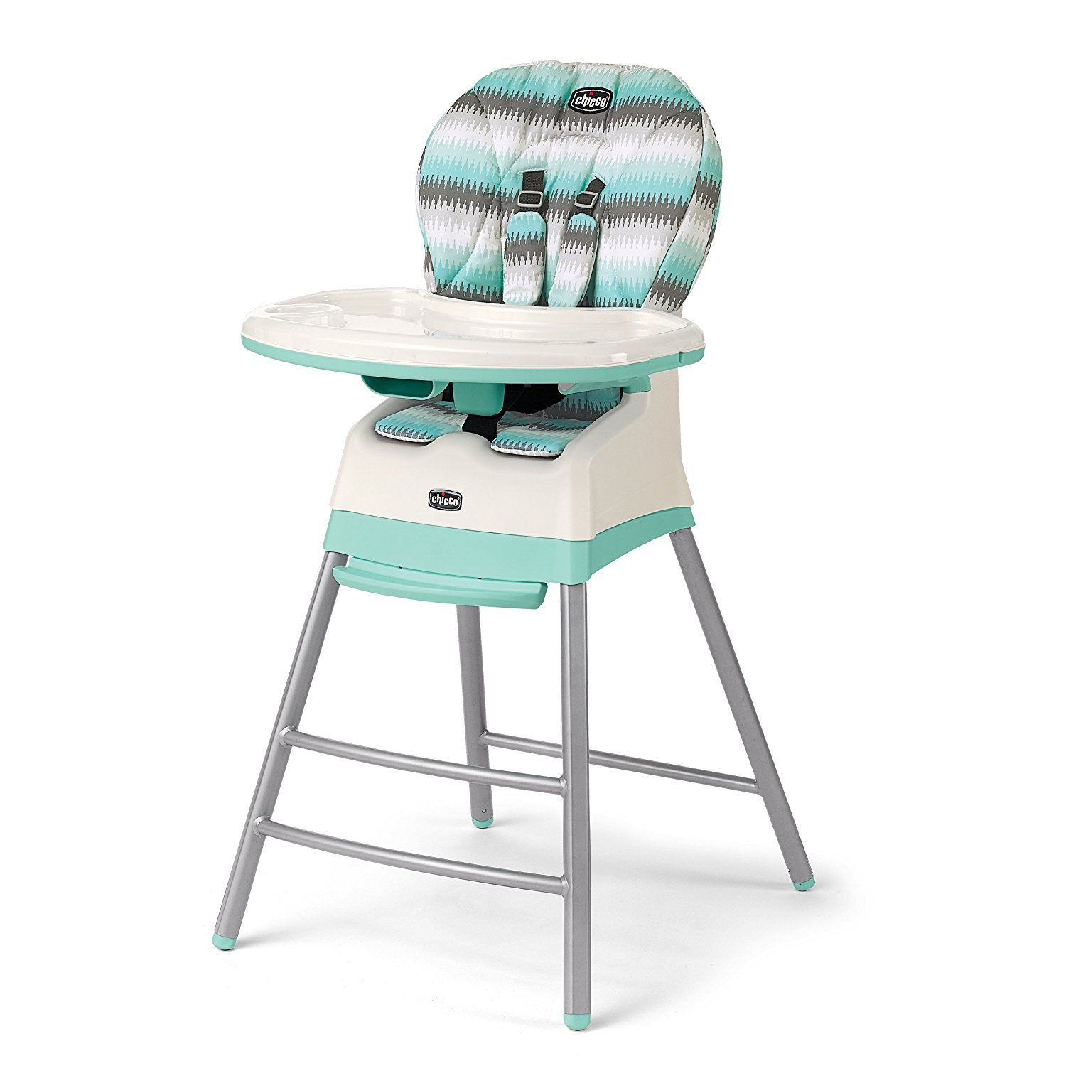 portable high chair chicco antique wicker chairs stack 3 in 1 multi stage adjustable highchair booster modmint walmart com