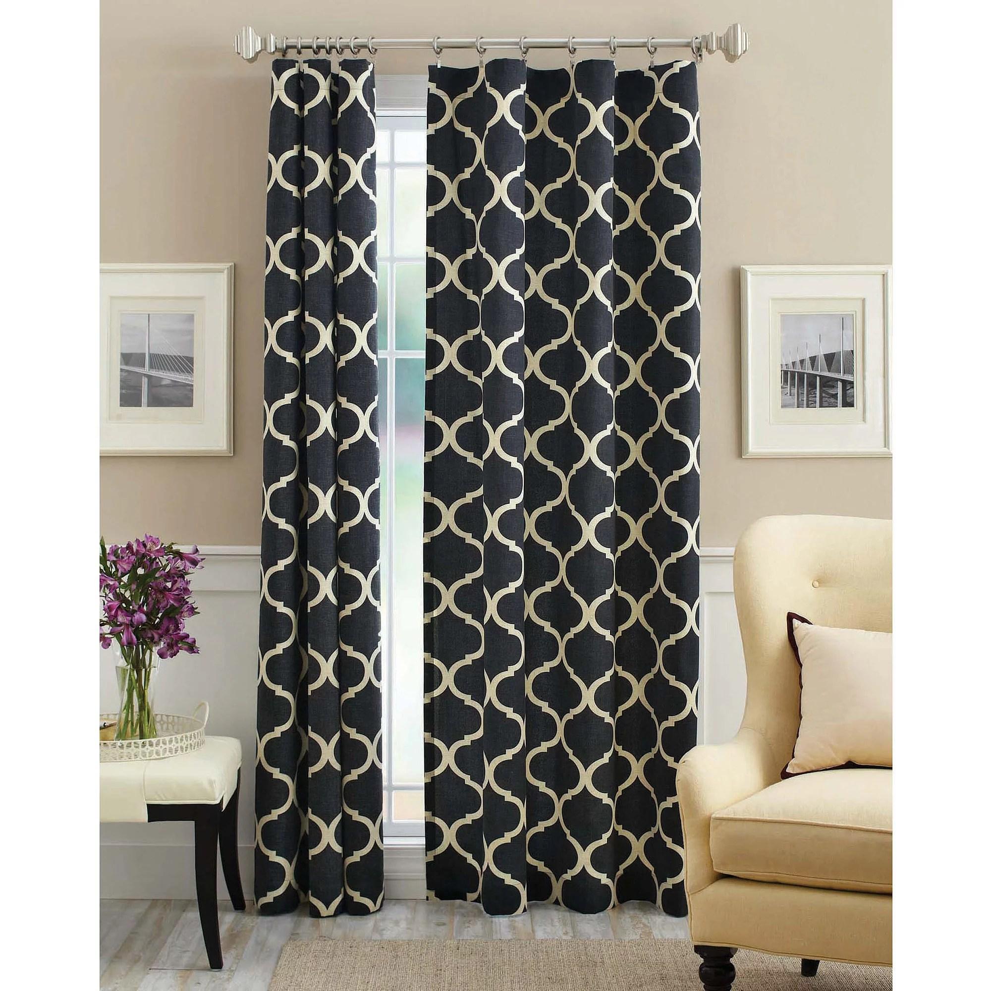 living room curtains walmart corner stands mainstays canvas iron work curtain panel com