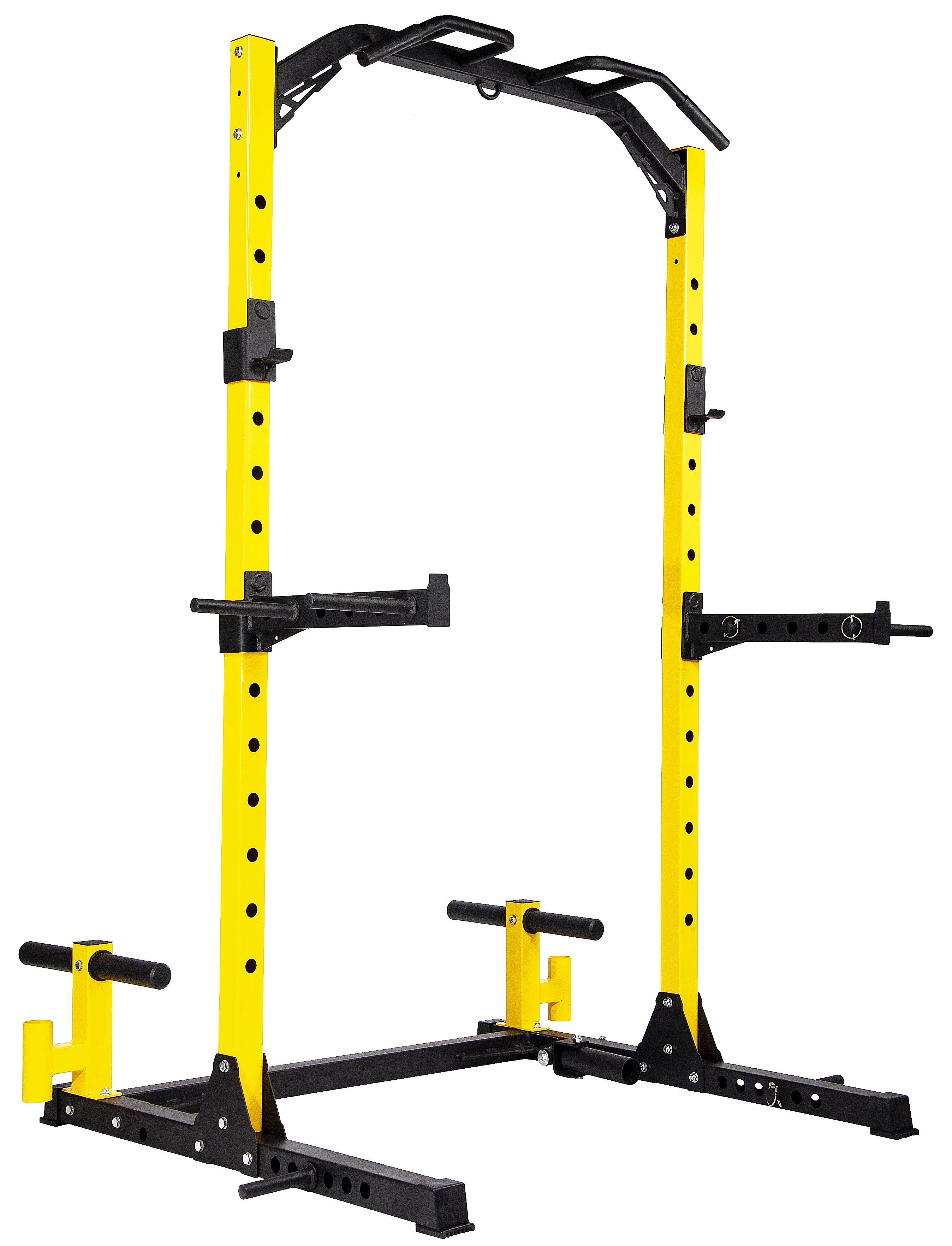 everyday essentials multi function adjustable power rack exercise squat stand with dip bars weight plate holders j hooks and other accessories
