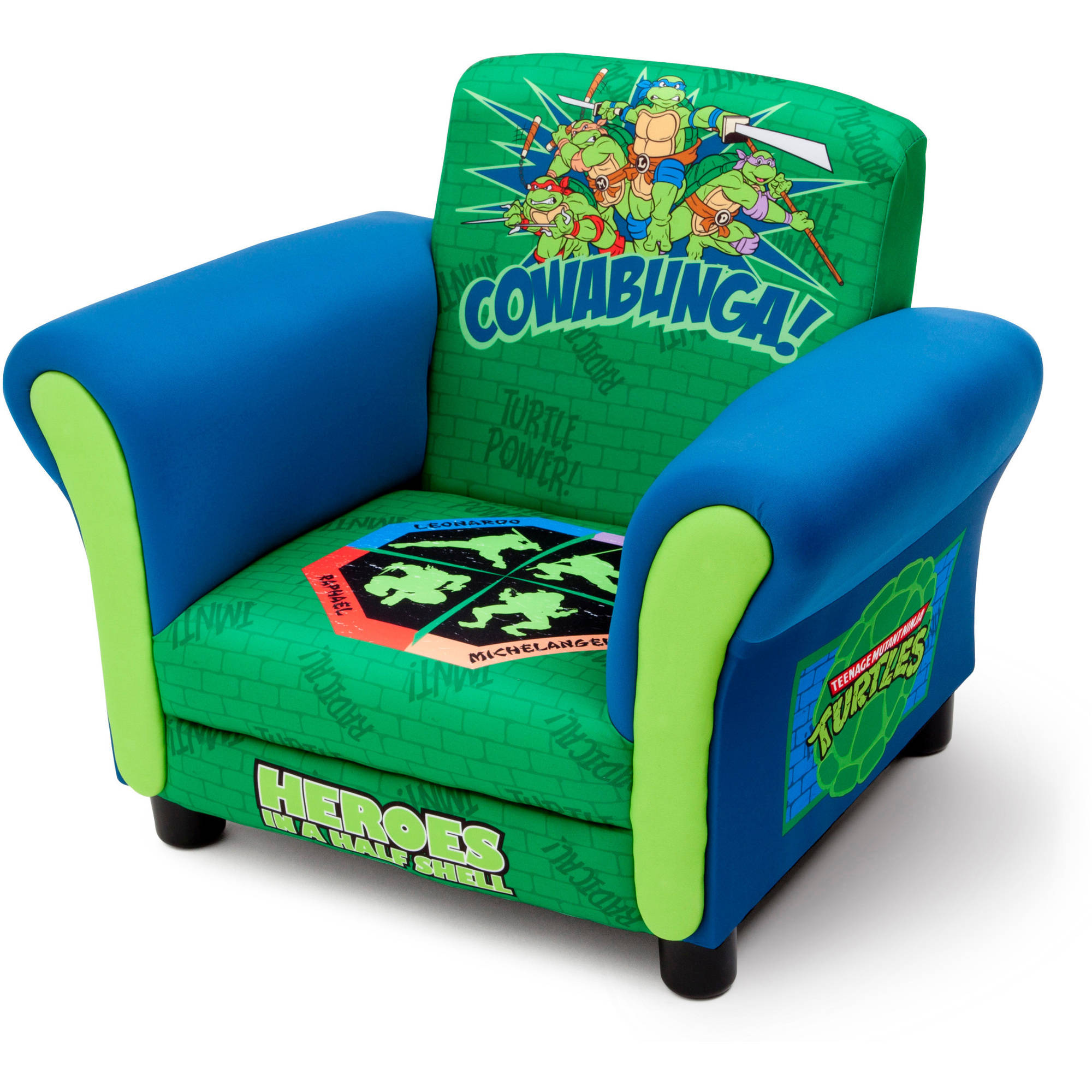 ninja turtles chair straight back chairs office teenage mutant kids upholstered by delta children walmart com