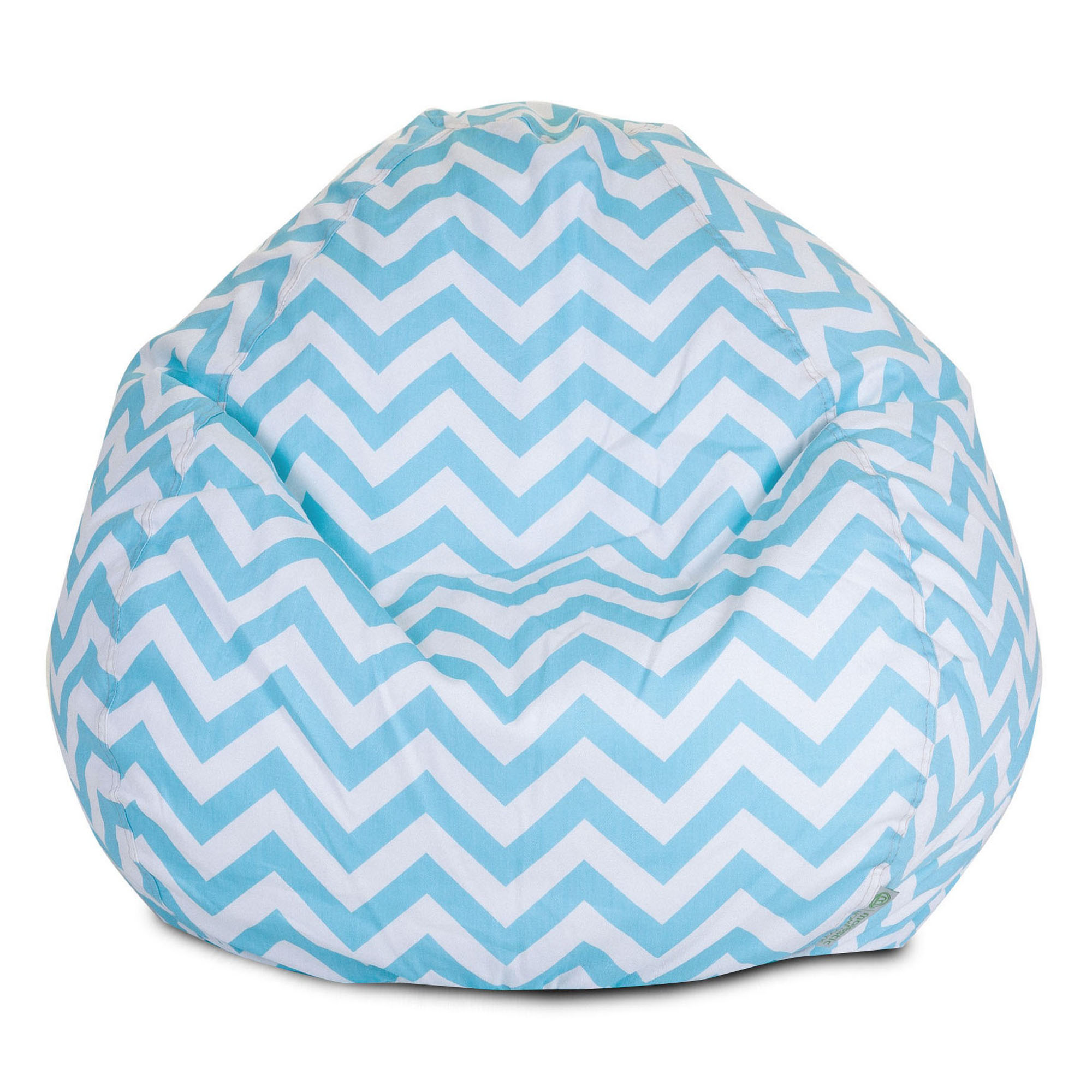Tiffany Blue Chair Majestic Home Goods Indoor Tiffany Blue Chevron Classic Bean Bag Chair 28 In L X 28 In W X 22 In H Walmart