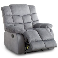 Wide Living Room Chair Small Couches Bonzy Manual Recliner Chairs With Padded Backrest Lay Flat Chaise Recliners