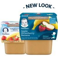 Gerber 2nd Foods Apple Strawberry Banana Baby Food, 4 oz ...