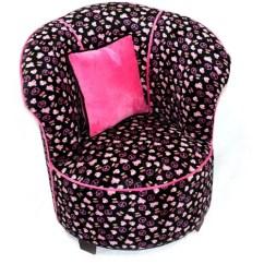 Black Skull Chair Spider Barber Tulip Tween Minky Walmart Com