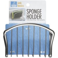 Walmart Sink Basics Metal Sponge Holder