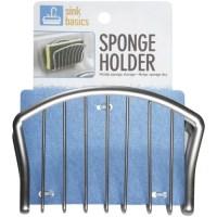 Walmart Sink Basics Metal Sponge Holder