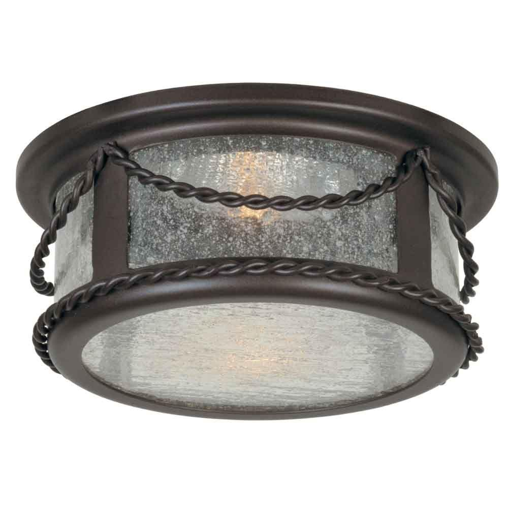 hampton bay4 in oil rubbed bronze recessed deco trim with seeded glass shade walmart com