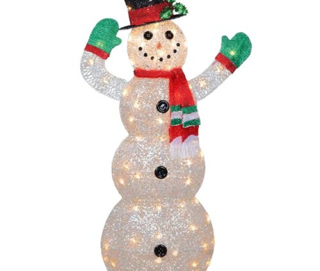 The Holiday Aisle Crystal Snowman Christmas Indoor Outdoor Decoration