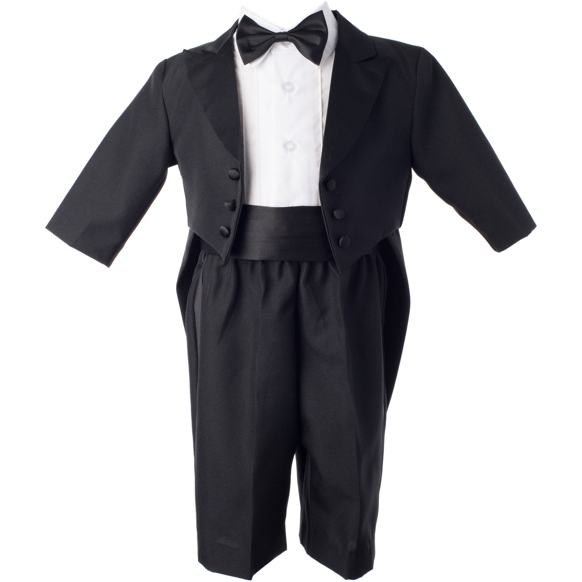 christening baptism newborn baby boy special occasion real 4 pc tuxedo outfit suit w tails