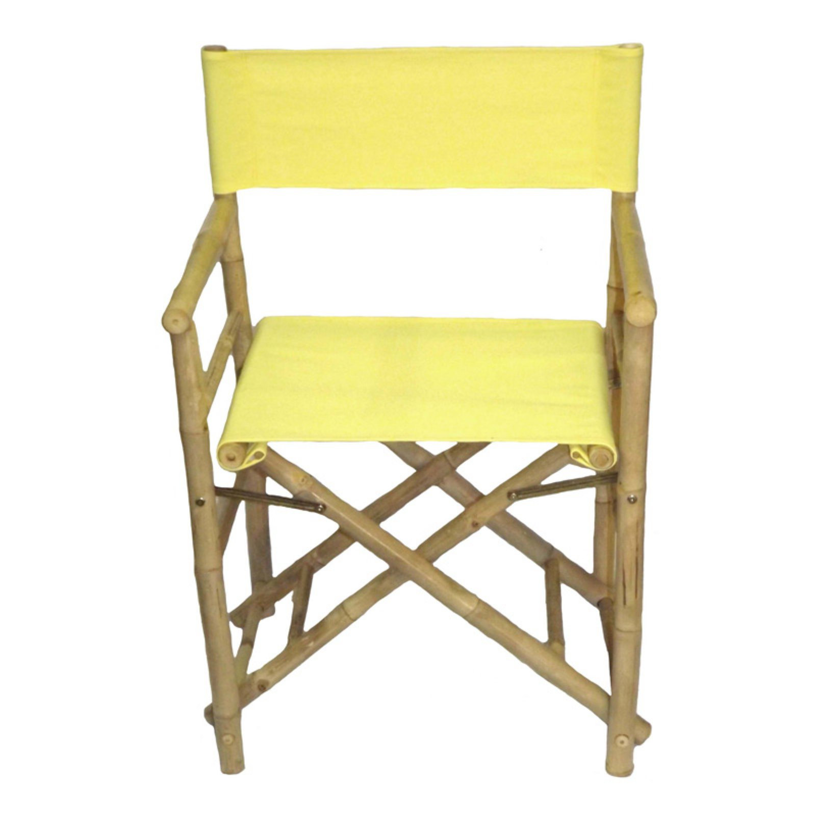 bamboo directors chairs high chair toy bamboo54 folding low with canvas cover set of 2 walmart com