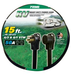 prime rv power cord 15 feet 50 amp plug and 50 amp connector walmart com [ 1200 x 900 Pixel ]