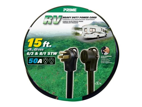 small resolution of prime rv power cord 15 feet 50 amp plug and 50 amp connector walmart com