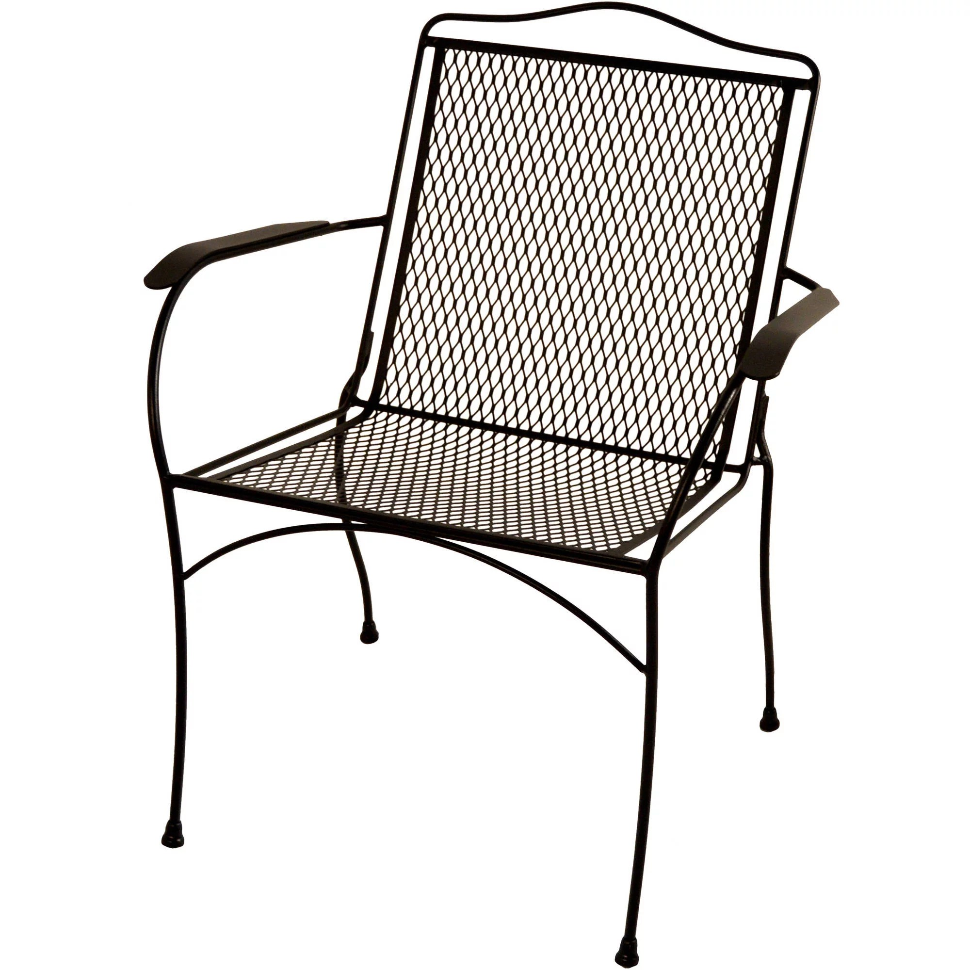 wrought iron chair aqua adirondack chairs arlington house sturdy stack charcoal walmart