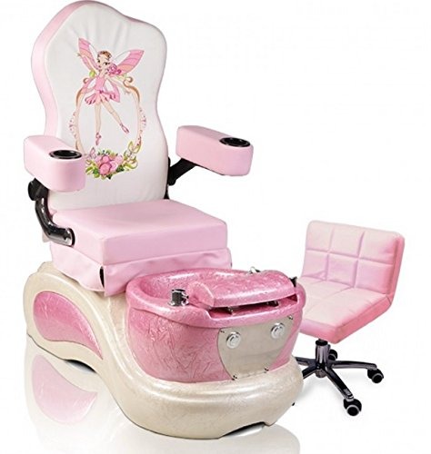 butterfly pedicure chair restaurant chairs for less kids pink pixie childs spa nail salon furniture equipment walmart com