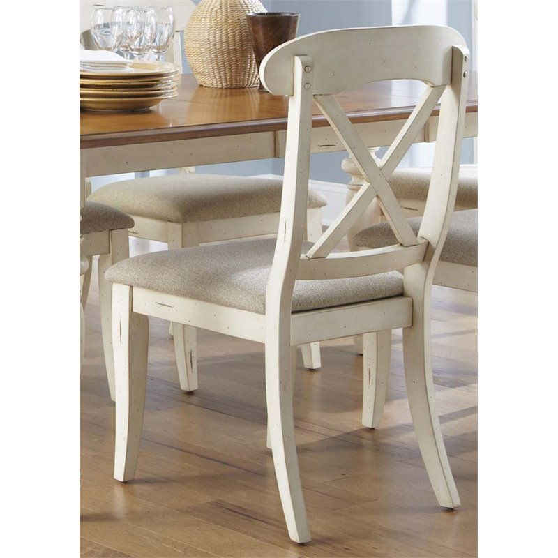liberty dining chairs metal room furniture ocean isle x back side chair in bisque walmart com