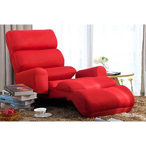 foldable cushion chair cover seat corners merax floor lounge bed with pillow red walmart com