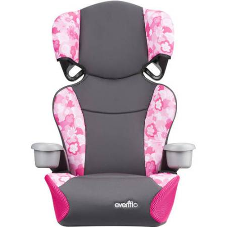 Evenflo Big Kid Sport High Back Booster Seat, Peony Playground