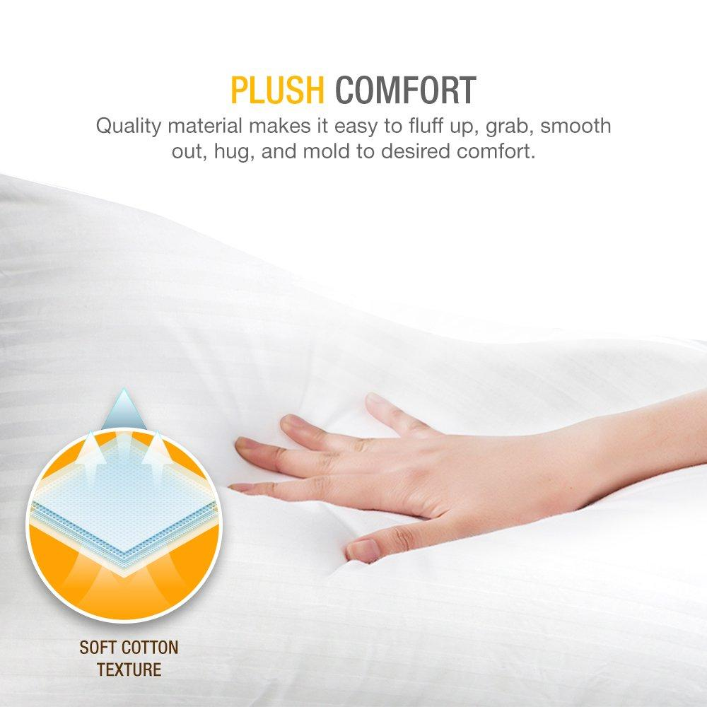 dreamnorth premium gel pillow loft pack of 2 luxury plush gel bed pillow for home hotel collection good for side and back sleep