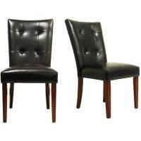 Parson Tufted Vinyl Chairs - Set of 2 - Walmart.com