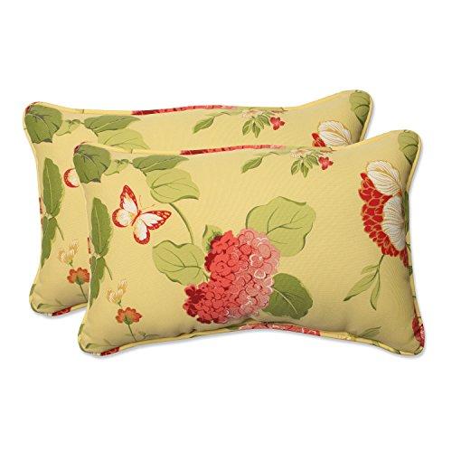 pillow perfect outdoor indoor risa lemonade lumbar pillows 11 5 x 18 5 gold 2 pack