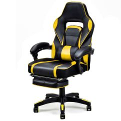 Office Chair With Ottoman Healthy Chairs Gymax Home Racing Style Executive High Back Gaming W Walmart Com
