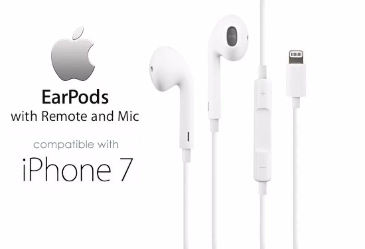 Apple Earpods Headset W Lightning Connector Iphone X 8 7