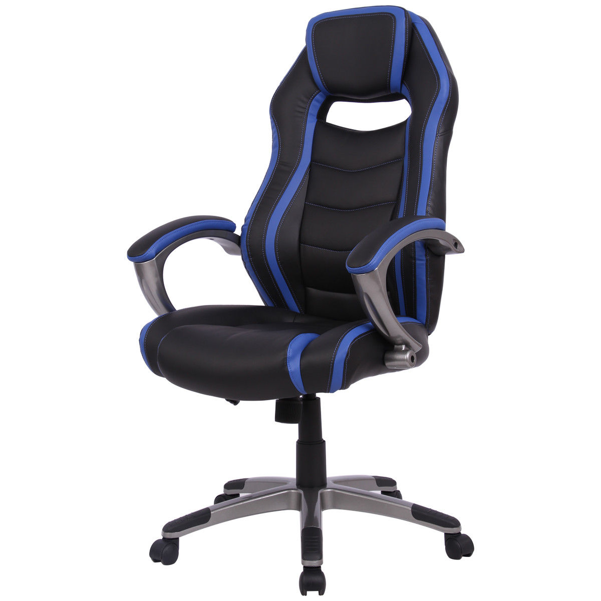 bucket racing chair folding table gymax gaming car style high back office seat walmart com