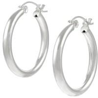 Brinley Co. Sterling Silver Hoop Earrings - Walmart.com