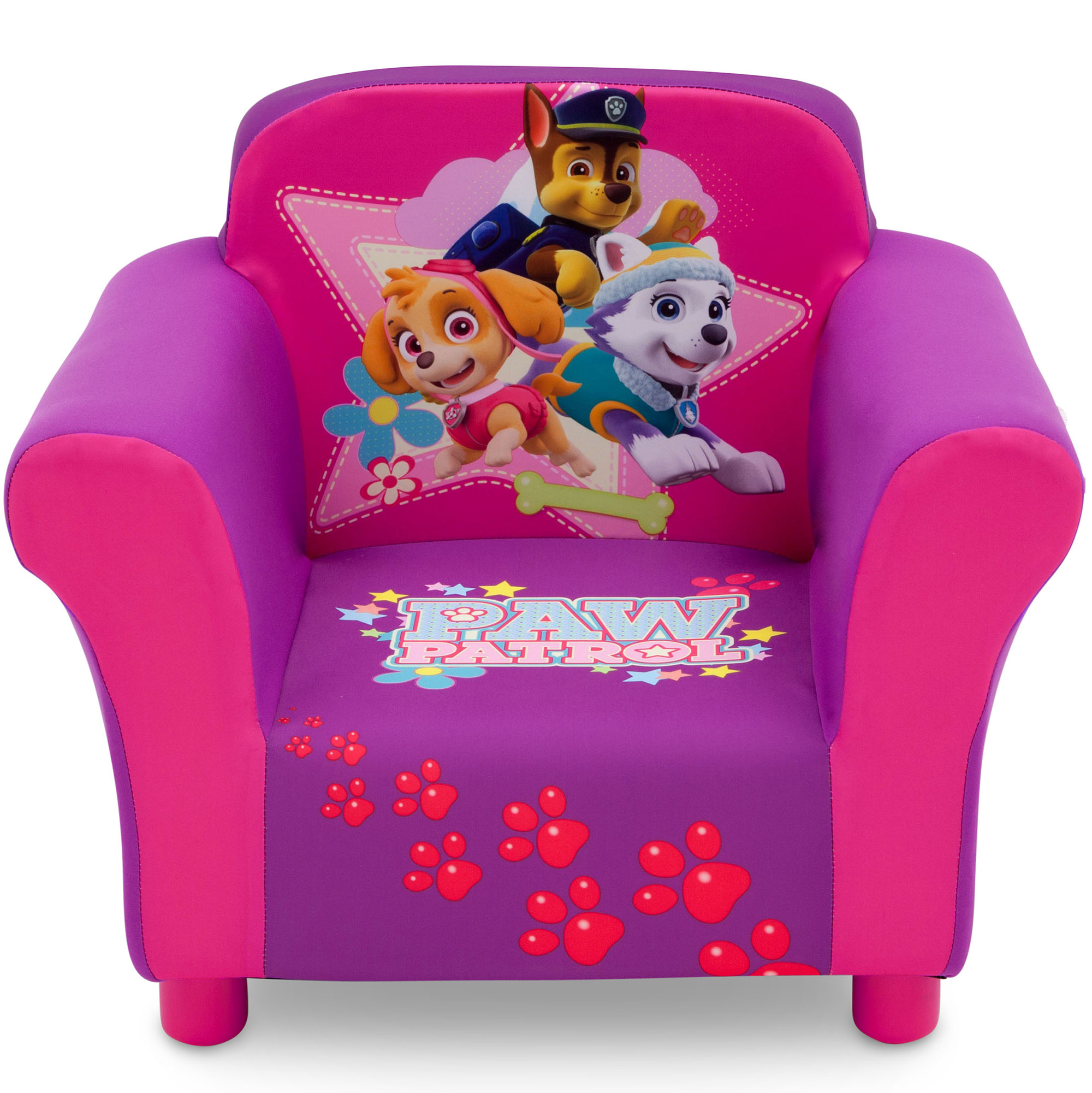 childrens upholstered chairs back massage chair pad nick jr paw patrol skye and everest kids by delta children walmart com