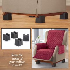 Recliner Chair Height Risers Cheap Desk And Set Of 4 Walmart Com