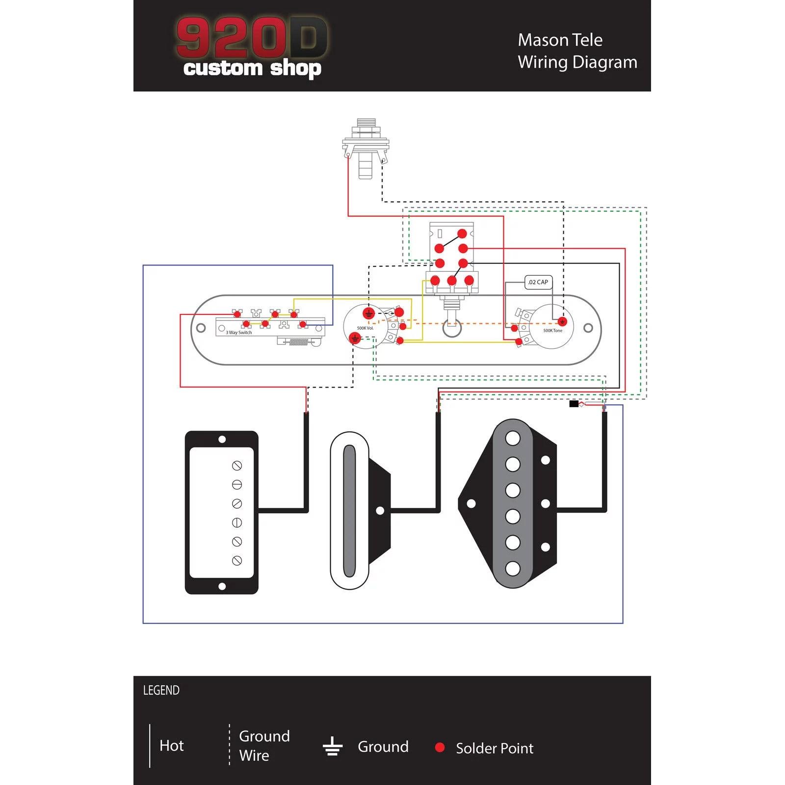 920d fender telecaster tele brent mason style 3 w control plate fender wiring diagrams 920d fender [ 1600 x 1600 Pixel ]