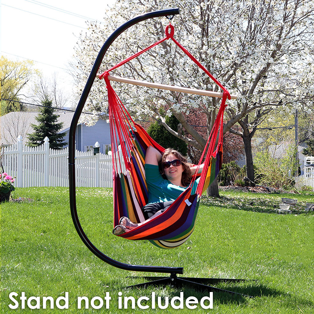 hammock chair swings steelcase think review sunnydaze jumbo extra large swing sunset for indoor or outdoor use max weight 330 pounds walmart com