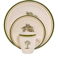 Mainstays Palm Villa 16-Piece Dinnerware Set, Multi-Color ...
