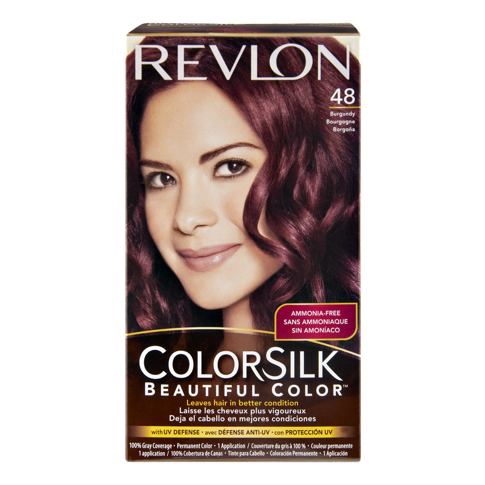 revlon colorsilk 48 burgundy permanent