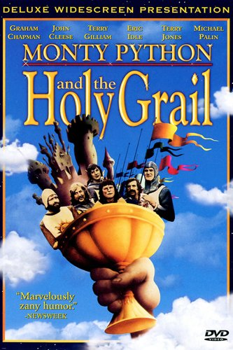 monty python the holy grail movie poster colorful hilarious clever 24x36