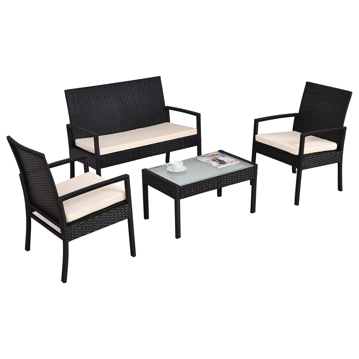 sofa seat height 60cm small bed with chaise wicker table and chairs set malta outdoor dining