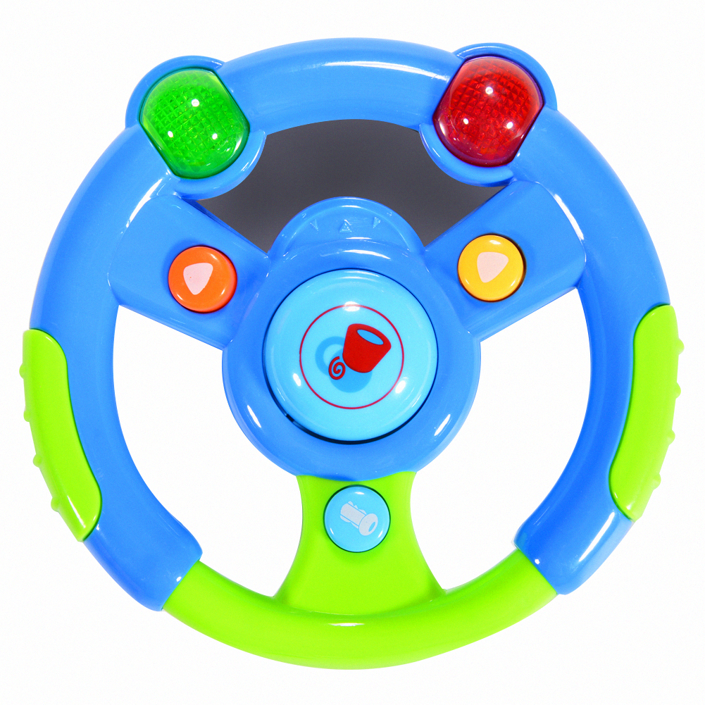 Musical Steering Wheel Toys For Toddlers With Light