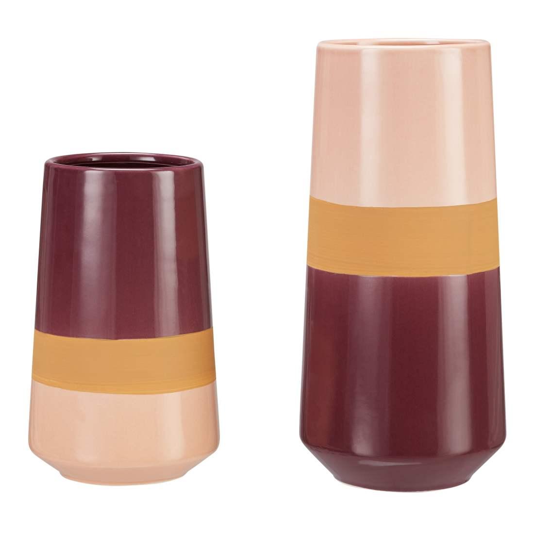 Better Homes & Gardens 2-Piece Tri-Color Vase Set, Multiple Colors