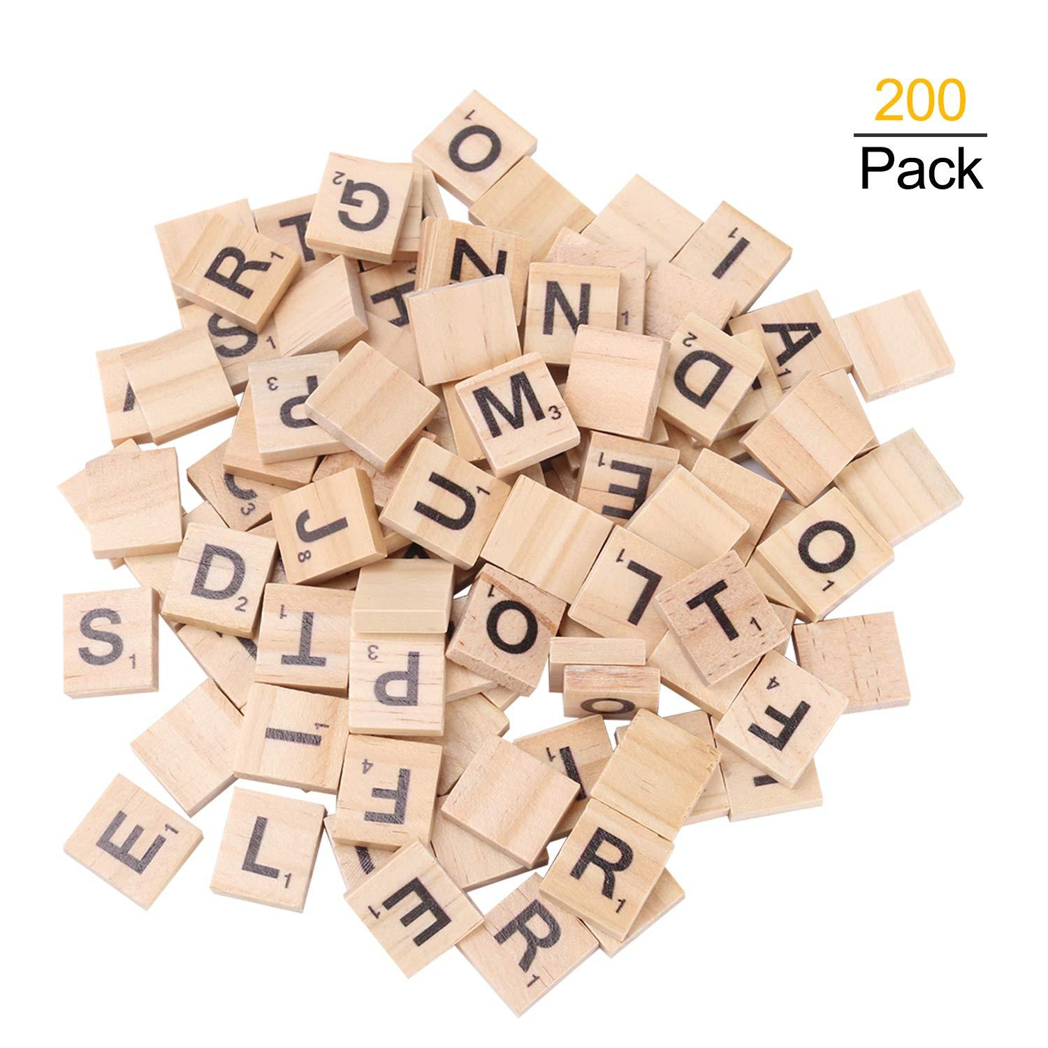 scrabble tiles for crafts wooden letters scrabble letters education games and diy wood tile game wall decor all ages walmart com