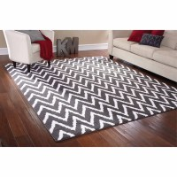 Mainstays Rug in a Bag Distressed Zig Zag Cinder Area Rug ...