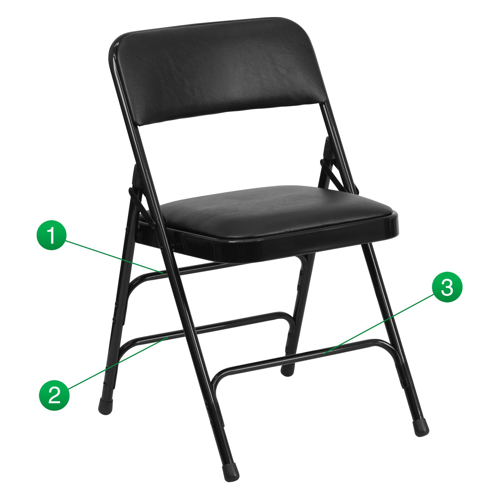 best folding chair room and board dining chairs flash furniture hercules series curved triple braced double hinged vinyl upholstered metal multiple colors walmart com