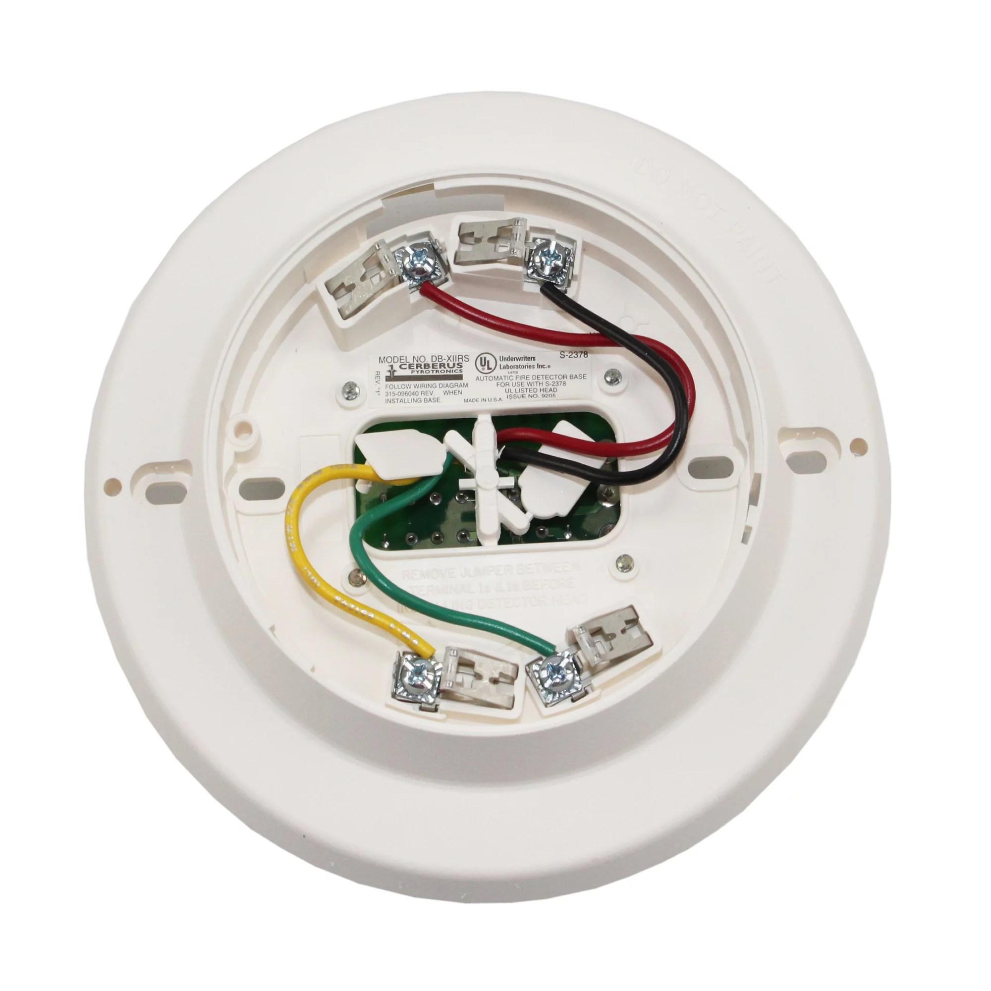 hight resolution of siemens db x11rs fire alarm smoke detector relay base 500 096125 white walmart com