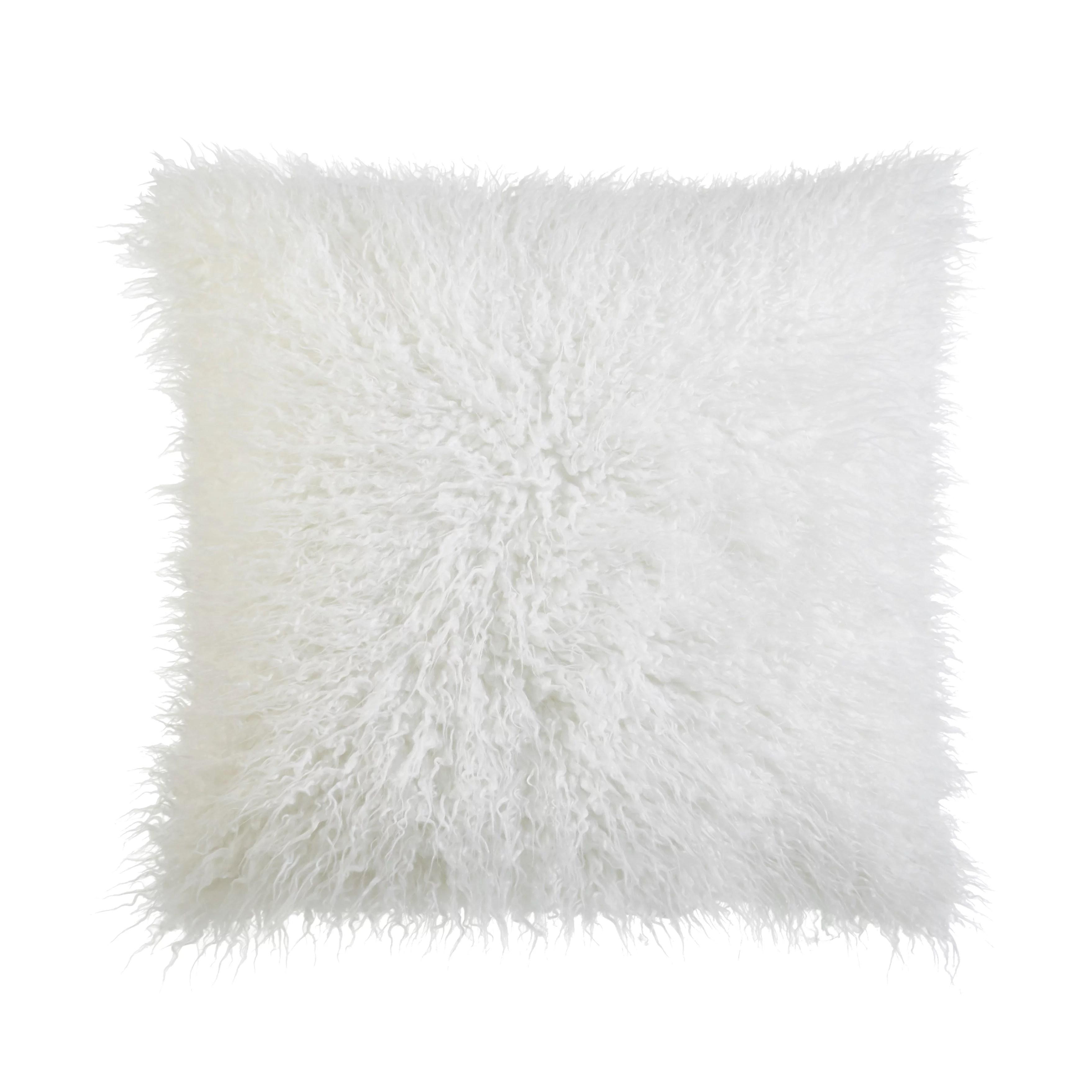 better homes and gardens mongolian faux fur pillow 22 x 22 white walmart com