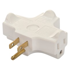 3 Way Outlet Vw Golf Coil Wiring Diagram Hyper Tough Plug Adapter Prong White For Indoor Use Walmart Com
