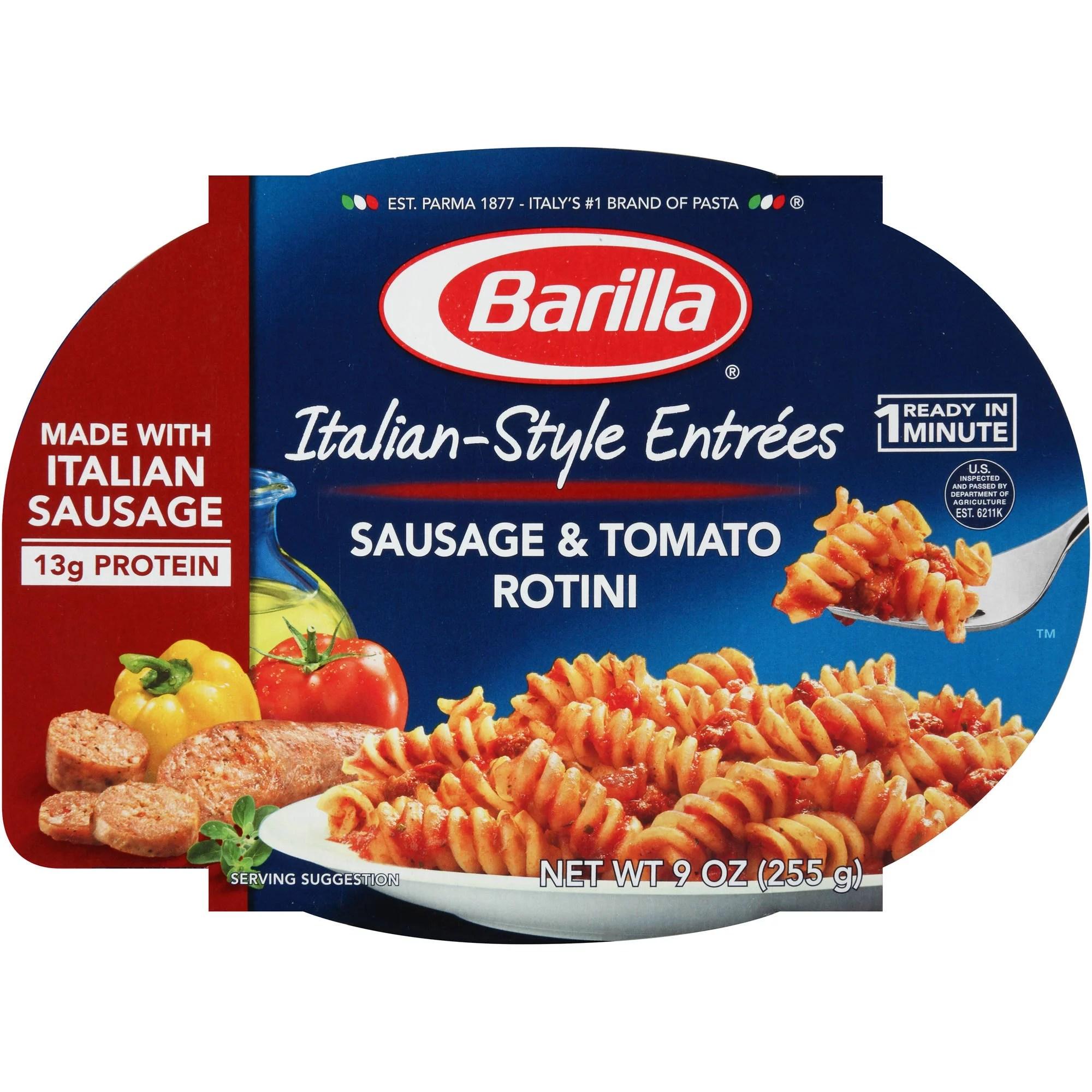 Barilla Italian Entrees Sausage Tomato Rotini Pasta 9